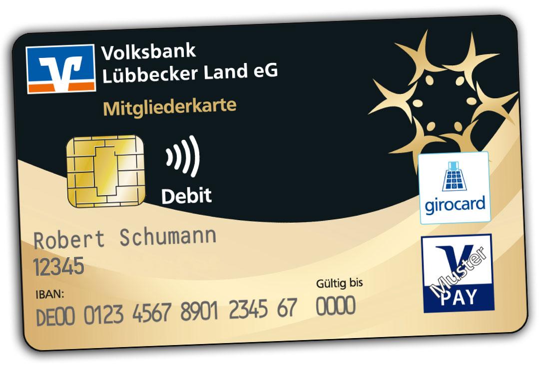 volksbank karte Konto und Karten   Volksbank Lübbecker Land eG